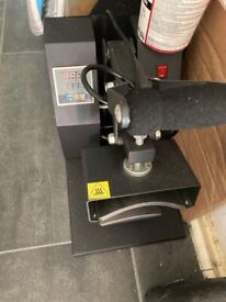 Heated hat printing press