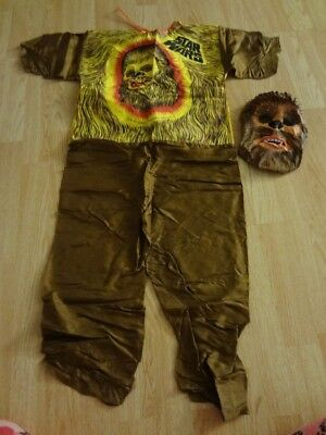 Youth Boys Star Wars Chewbacca L(12/14) Vintage 1977 Halloween Costume Mask & Ou - 1977 Halloween Costumes