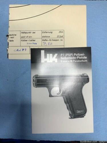 Heckler & Koch P7 manual with Shot Proof