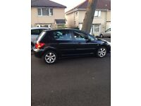 peugeot 307 1.6 hdi s 110 top spec 56 reg very clean inside and out f/s/h 2 owners