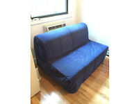 IKEA LYCKSELE sofa bed, double bed, navy blue cover, CAN DELIVER