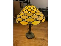 TIFFANY STYLE TABLE HANDCRAFTED LIGHT SHADE GLASS STAINED LAMP