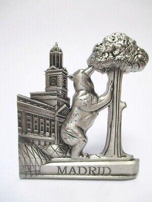 Madrid Bär Erdbeerbaum Metall Magnet Souvenir Spanien Espana silber (Magnet Madrid)