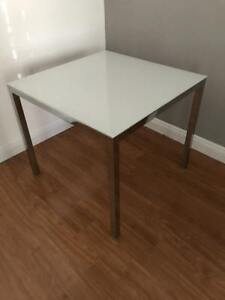 IKEA Torsby glass and chrome dining table