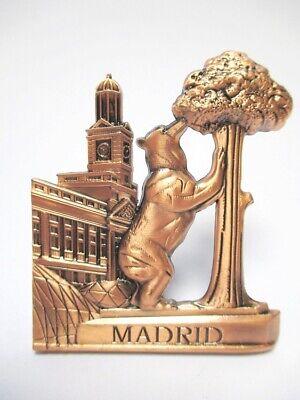 Madrid Bär Erdbeerbaum Metall Magnet Souvenir Spanien Espana redbr (Magnet Madrid)