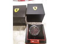 Brand new Scuderia Ferrari crono mans watch NEVER WORN