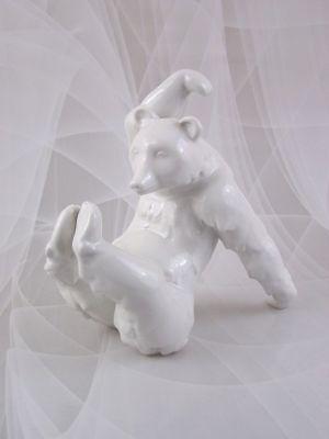KPM Berlin Figur großer Bär Bear Weisser Figurine Figure 18 cm Porzellanfigur