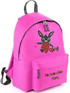 Personalised bing from cbeebies design rucksack backpack for Bing bags for sale
