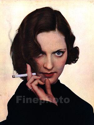 1935 Vintage 16x20 FEMALE FASHION Cigarette Smoking Photo ALFRED CHENEY JOHNSTON