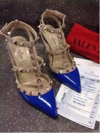 WOMENS STUDDED HIGH HEELS WITH BOX - FREE POSTAGE