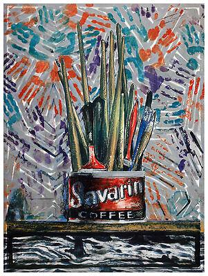 Jasper Johns Savarin Monotype 5 Poster Kunstdruck Bild 77x58cm