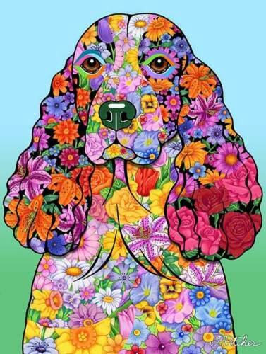 Flowers Garden Flag - Springer Spaniel 960311