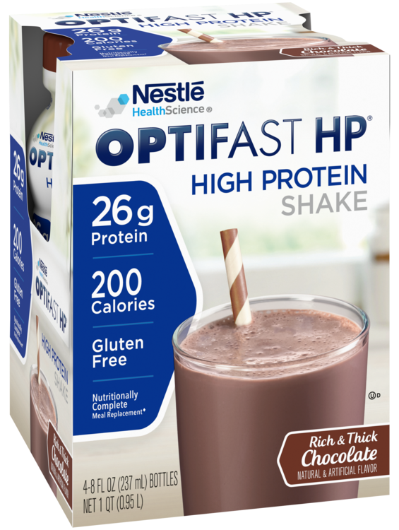 AUTHENTIC OPTIFAST® HP | READY TO DRINK SHAKES | CHOCOLATE 2 Case 32 servings !