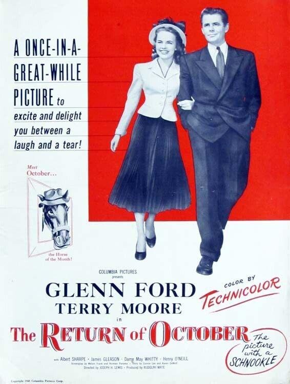 THE RETURN OF OCTOBER great PRESSBOOK 1948