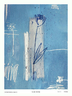 Aaron Ashley Blue Tulip Poster Kunstdruck Bild 45x34cm