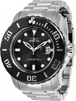 Invicta Men's Pro Diver Automatic 300m Black Dial Stainless Steel Watch 29352