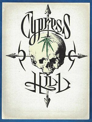 "Cypress Hill ""Black Sunday"" 5""x7"" Sticker Rare! Prophets of Rage Funkdoobiest"