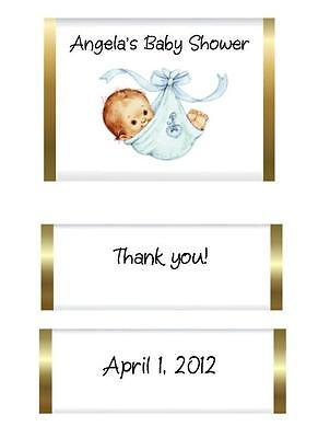 90 Baby Shower Shower Nugget Candy Wrapper Labels - Baby Boy in - Baby Candy