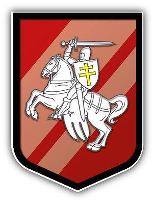 Belarus Coat Of Arms Car Bumper Sticker Decal 4'' x 5'' Belarus Coat Of Arms