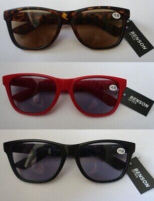 Nerd Sonnenbrille mit Sehstärke Sonnenlesebrille Federbügel Lesebrille im Etui