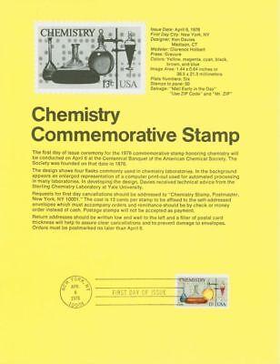#1685 13c Chemistry USPS #7612 Souvenir Page for sale  Crosby