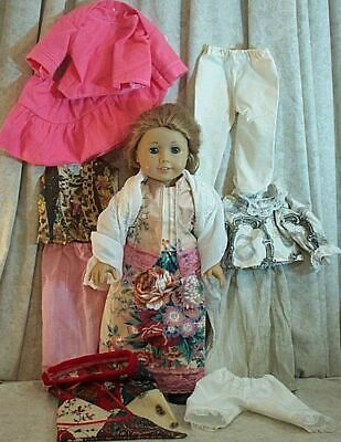 "Doll Clothes Made2Fit American Girl 18"" inch Lot 11pcs Skirt Blouse Pantaloons"