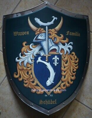 XL Medieval shield, Family Coat of Arms metal knight shield custom hand - Custom Medieval Shield