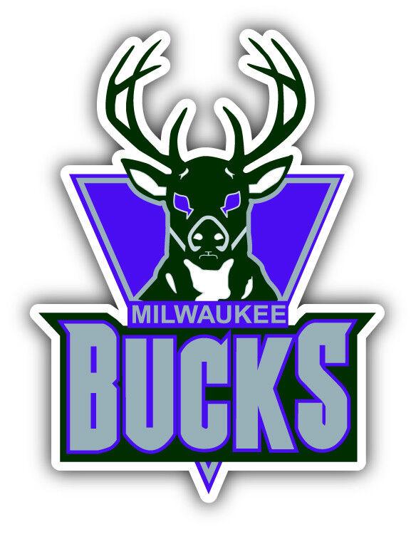 Milwaukee Bucks NBA Basketball  Car Bumper Sticker Decal - 3