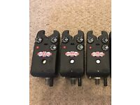 3 x delkim txi plus alarms red carp fishing