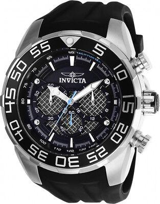 Invicta Men's Speedway Chrono 100m Stainless Steel/Black Silicone Watch 26314