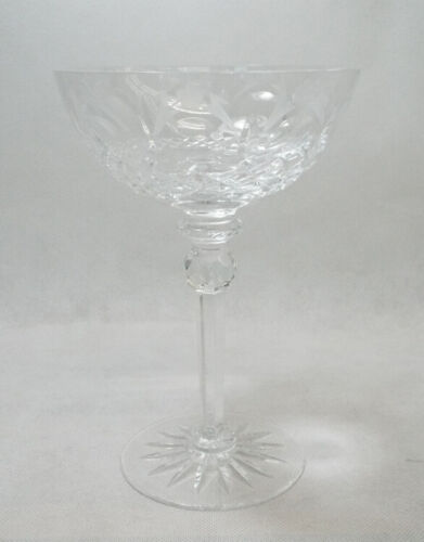 Rogaska QUEEN Champagne Saucer Tall Sherbet Glass 3 Available EXCELLENT Crystal