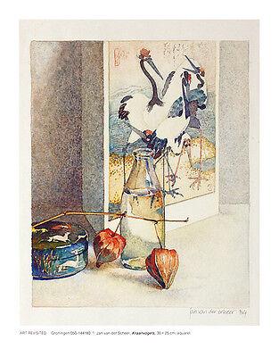 Jan van der Scheer Kraanvogels Poster Kunstdruck Bild 37x29cm