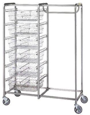 Six Basket/Garment Hanger Resident Item Cart Model Number 1014 ()