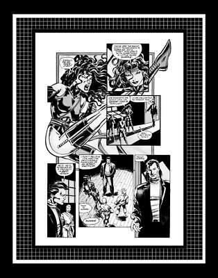 Mike Deodato Jr. Elektra #10 Rare Production Art Pg 11 Monotone