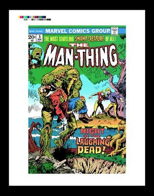 Mike Ploog Man-Thing #5 Rare Production Art Cover