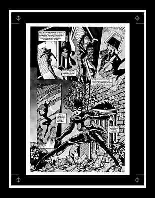 Jim Balent Catwoman #53 Rare Production Art Pg 8 Monotone