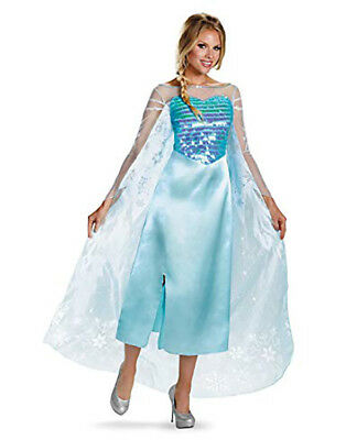 Disney Frozen Elsa Womens Halloween Costume Size Small Fits 4-7 Princess NEW ](Elsa Costume Womens)