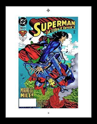 Jackson Guice Action Comics #708 Rare Production Art Cover
