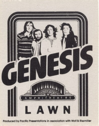 GENESIS 1976 A TRICK OF THE TAIL TOUR STARLIGHT BOWL BACKSTAGE PASS / NMT 2 MINT