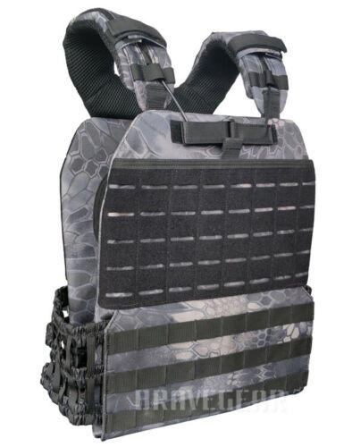 Tactical Adjustable Weight Vest Plate Carrier Molle Fast Quick Release CrossFit