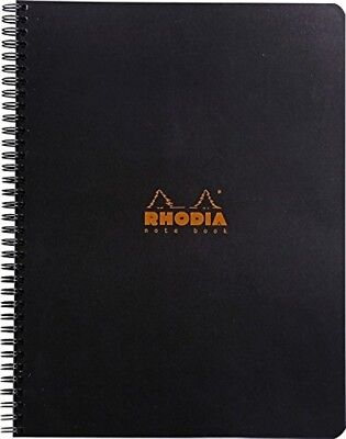 Rhodia Wirebound - Notebook - Black - Graph - 80 Sheets - 9 X 11.75 New R193009
