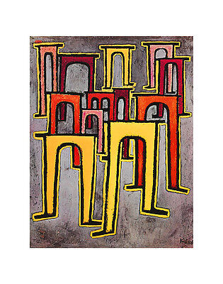 Paul Klee Viaducts Break Ranks Poster Kunstdruck Bild 72x57cm