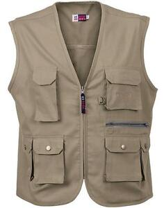 Mens-Vest-Waistcoat-Multi-Pocket-Bodywarmer-Ladies-Workwear-Fly-Fishing-Hunting