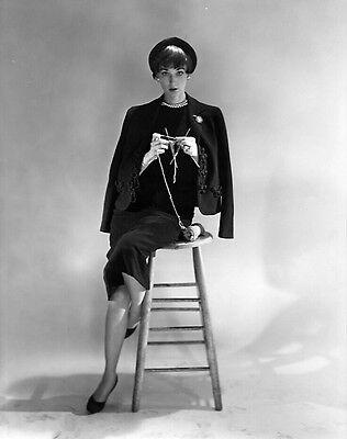 Cecil Beaton 1950 8x10 B&W Studio Fashion Photograph, Stamped