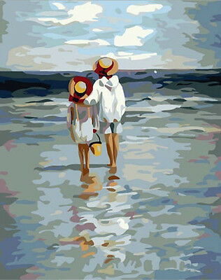 Diy Oil Painting Paint by Number Kit for Adult Kids Studunt Wall Art-See to Sea - Paint By Number Kits For Adults
