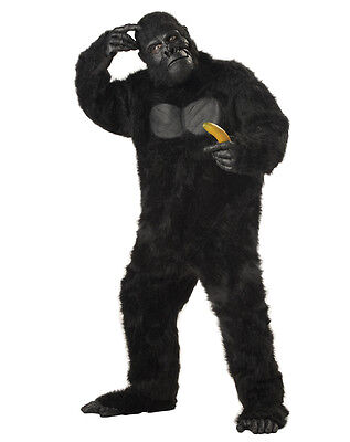 New Best Cheap Adult Gorilla KING KONG Full Suit Costume-Halloween