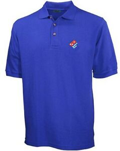 Dominos shirt ebay for Employee shirts embroidered logo