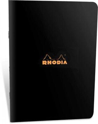 Rhodia Staplebound - Notebook - Black - Graph - 24 Sheets - 3 X 4.75 - 119159