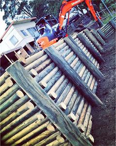 Treated Pine Retaining Walls