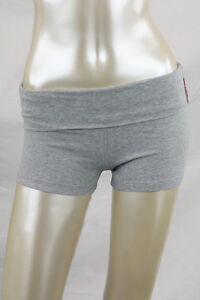 Yoga-shorts-with-fold-over-waistband-cotton-spandex-stretch-several-colors